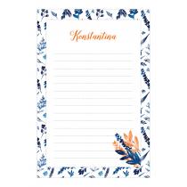 Indigo Florange Personalized Notepad
