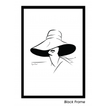 Lady in Hat Art Print | Virginia Romo