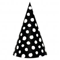 Black Polka Large DIY Party Hats