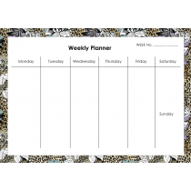 Leopard Flower Weekly Planner Horizontal