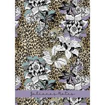 Leopard Floral Purple Personalized Notebook/Agenda