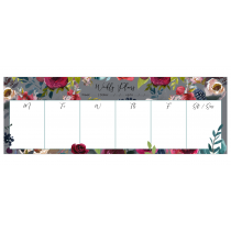 Merlot - Grey | Desk Weekly Planner