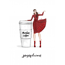 Monday Coffee Personalized Notebook   Maja Tomljanovic