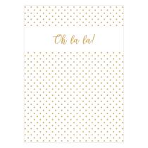 Oh la la Folded Greeting Card