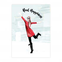 Real Happiness Folded Greeting Card | Virginia Romo