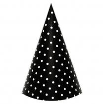 Black Polka Small DIY Party Hats
