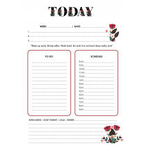 Folklore Chic Today Daily Planner