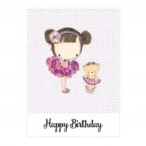 Lilly Birthday Folded Card