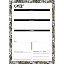 Leopard Flower Weekly Planner
