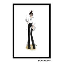 Working Girl - Brunette Art Print | Maja Tomljanovic