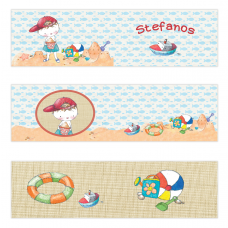 Boy Summertime Mini Topper Flags