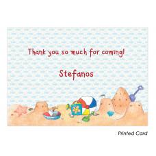 Boy Summertime Thank You Cards