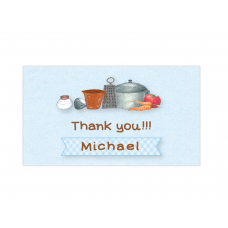 Little Boy Chef Mini Thank You Cards