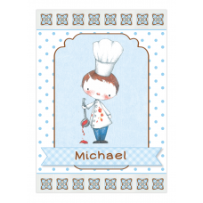 Little Boy Chef Wine Bottle Labels