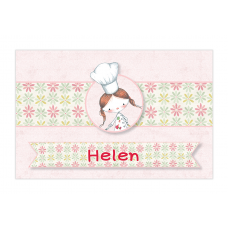 Little Girl Chef Bubble Labels