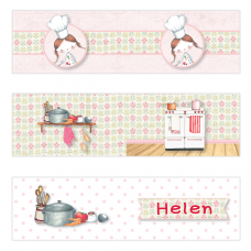 Little Girl Chef Mini Topper Flags