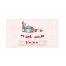 Little Girl Chef Mini Thank You Cards