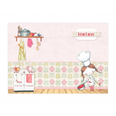 Little Girl Chef Placemat