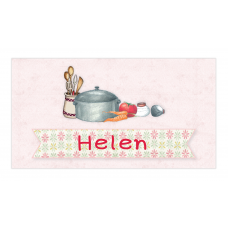 Little Girl Chef Envelope Sticker