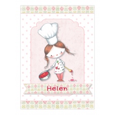 Little Girl Chef Wine Bottle Labels