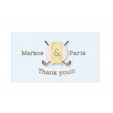 Golf Boy Twins Mini Thank You Cards