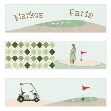 Golf Boy Twins Mini Topper Flags
