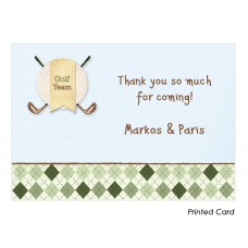 Golf Boy Twins Thank You Cards