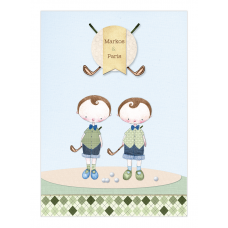 Golf Boy Twins Wine Bottle Labels