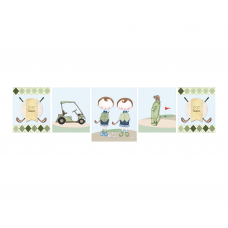 Golf Boy Twins Decor Banner
