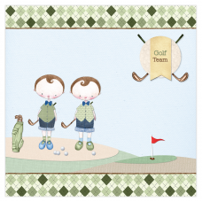 Golf Boy Twins Canvas Frame