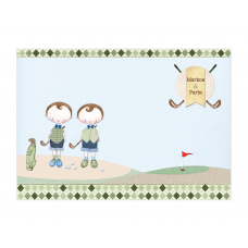 Golf Boy Twins Placemat