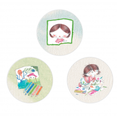 Art Studio for Girls Circle Stickers