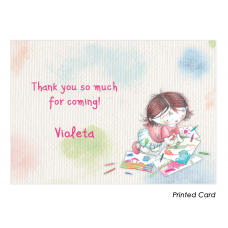 Art Studio for Girls Thank You Cards