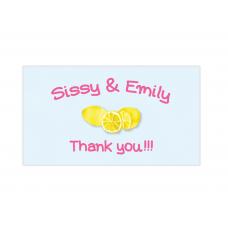 Pink Lemonade Mini Thank You Cards