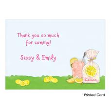 Pink Lemonade Thank You Cards