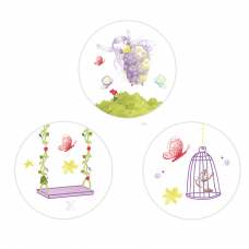 Purple Fairy Circle Stickers