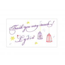Purple Fairy Mini Thank You Cards