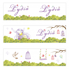 Purple Fairy Mini Topper Flags