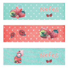 Strawberry Mini Topper Flags
