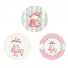 Vintage Princess Circle Stickers
