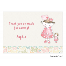 Vintage Princess Thank You Cards