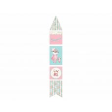 Vintage Princess Vertical Decor Banner