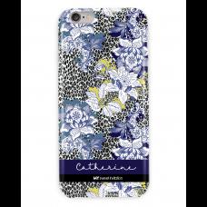 Leopard Grey Floral Blue Case