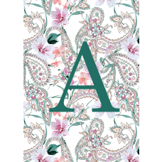 Paisley Monogram Green Notebook/Agenda