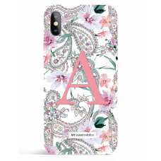 Paisley Peach Monogram Phone Case