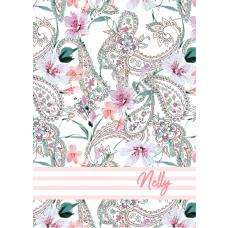 Paisley Pink Stripes Notebook/Agenda