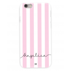 Pink Stripes Personalized Case