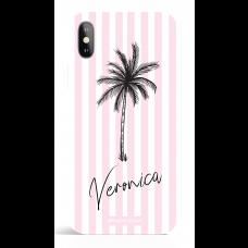 Paradise Pink Stripes Pesonalized Phone Case