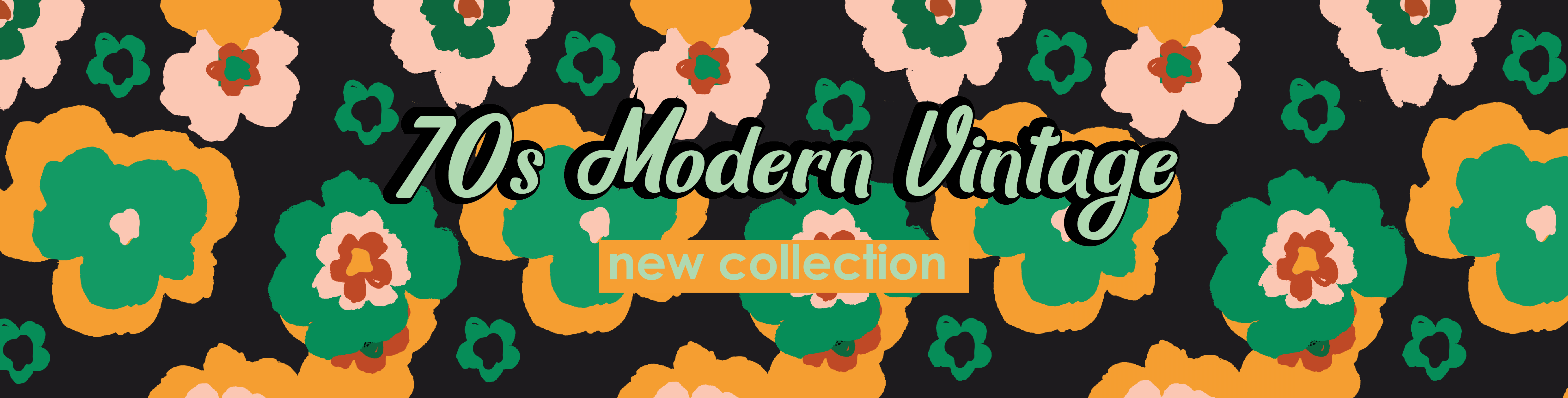 70s Modern Vintage Flower