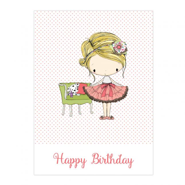 Amelia Birthday Folded Card